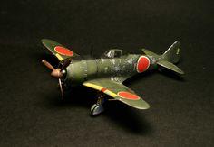 Ki-44 Hasegawa 1/72 Fighter Jets, Aircraft, Models, Vehicles, Aviation, Plane, Airplanes, Planes, Fashion Models