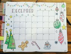 Added some color. I like it. Now I need to fill it in! #december #christmas #calendar #doodles #bujo #bulletjournal