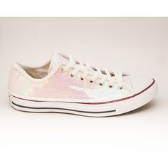4df009a9b367 Sequin Crystal White Iris Canvas Converse Canvas Low Top Sneakers...  ( 115). White Canvas ShoesBlack ...