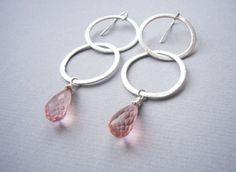 LOOPING Sterling Silber & Rose Quarz von felicitas mayer ~ schmuck & accessoires auf DaWanda.com