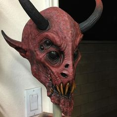 """""""Demon""""....almost done, awaiting his goatee.#caseylove #caseyloveart…"""