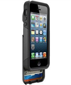 Otterbox Commuter Wallet Case Apple iPhone 5 en 5s Zwart