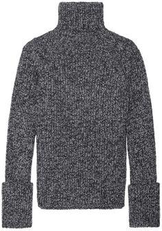 Joseph Melange Wool-Blend Turtleneck Sweater