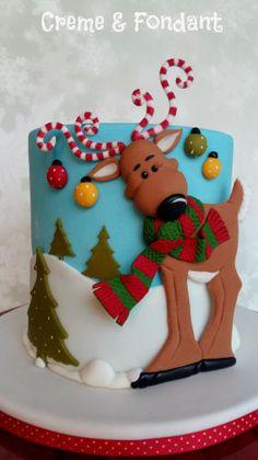 Cake Wrecks - Home - Sunday Sweets: Christmas Glee Christmas Cake Designs, Christmas Cake Decorations, Christmas Cupcakes, Holiday Cakes, Christmas Goodies, Christmas Treats, Christmas Baking, Reindeer Christmas, Winter Christmas
