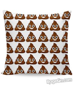 Poop Emoji Couch Pillow - RageOn! - The World's Largest All-Over-Print Online Store