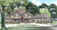 Six Bedroom House Plan With Style - 60651ND - 01