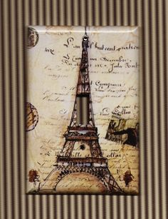 Eiffel Tower Switch Plate Cover ($11) ...perfect for our dining room.