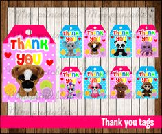 d22a81a85dc 80% OFF SALE Beanie Boo s Thank you Tags instant download