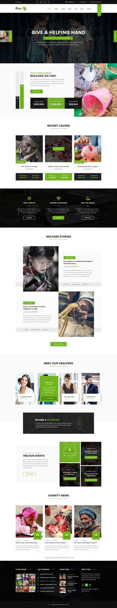 Booster - Business and multipurpose PSD Template Psd templates - ngo templates