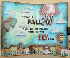 JIJI Cards: Art Journal: Flights! {Art journal: Fly!}