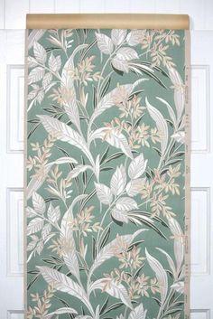 1930s Botanical Vintage Wallpaper