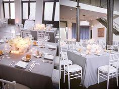 Table setting, wedding at the Chicago Illuminating Company