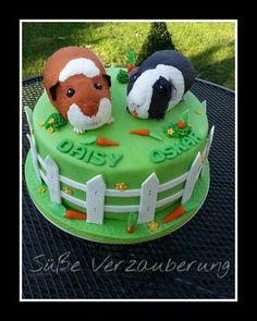 Cute if u have two gp's but not if u have 14 lol Cupcakes Fondant, Fun Cupcakes, Cupcake Cakes, Pig Birthday Cakes, Birthday Cake Girls, Pretty Cakes, Cute Cakes, Girly Cakes, Fondant Animals
