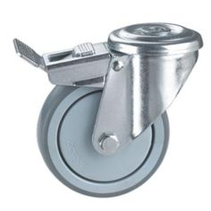 "Name:Casters With Bolt Hole Wheel Material:PA,PP,TPR,With Metral Frame Size:3"" x 32mm ; 4"" x 32mm ; 5"" x 32mm Loading Capacity:80kg-130kg Bearing Type:Ball Bearing Type:Threaded Stem,Threaded Stem With Plastic Dual-Brake,Threaded Stem With Metal Dual-Brake Widely used as medical trolley caster,Hospital bed caster.Medical cart castors,Trolley Caster"