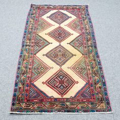 3.2 X 6.11 Shiraz persian vintage hand-knotted oriental