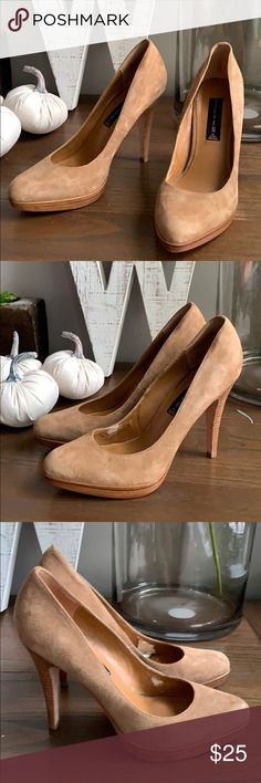 5c3c7741cc17 Steven by Steve Madden Camel Suede Pumps 8.5 Very good used condition  Lining is peeling a