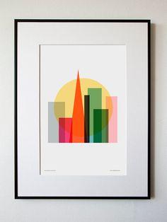 """SF """"Rise & Shine"""" Poster Print via Honey & Bloom."""