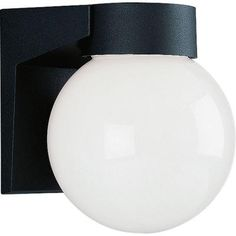 Progress Lighting Black 1-light Wall Lantern-P5617-31 at The Home Depot