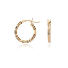 "Small Hoop Earrings in 14k Rose Gold (5/8"") | Blue Nile"
