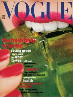 Rowntree's jelly on the cover of Vogue UK, February 1977. Photo: Willie Christie.