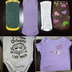 Onesie extenders. Use old onesies to extend others that may be too short to snap but still fit.