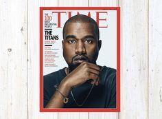 Kanye West in Time Magazine Cover, Kanye West Poster, Kanye West Art, Song Lyrics  Music Art, Gift for Musicians, Room Decor, Rapper, Yeezus by MusicSongsAndLyrics on Etsy