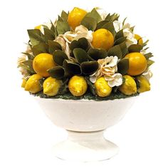 I pinned this Silk Lemon & Hydrangea Arrangement from the Essex Road event at Joss and Main!