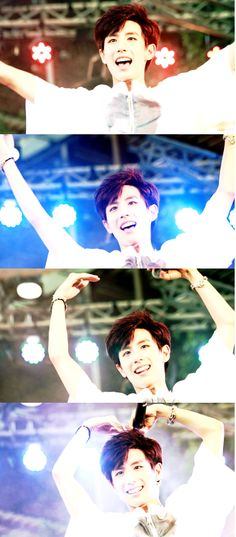 how to form a heart in 4 steps .. by Boyfriend's very own , NO MINWOO ♥♥ #kpop #Boyfriend #No Minwoo
