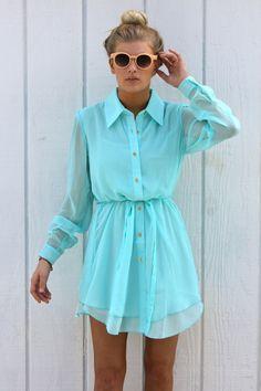 Sky Blue Frank Shirt Dress