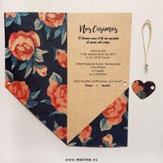 Invitaciones de boda originales modelo Floral Elegance