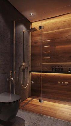 Washroom Design, Toilet Design, Bathroom Design Luxury, Modern Bathroom Design, Modern House Design, Home Interior Design, Interior Architecture, Bathroom Design Inspiration, Dream Bathrooms