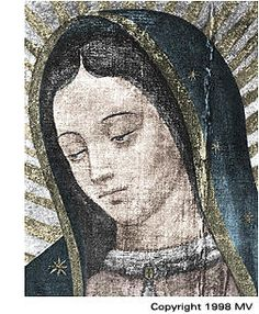 face of our lady of guadalupe,before painted additions, via Flickr.