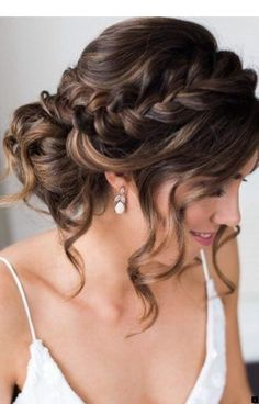 Best Wedding Hairstyles For Long Hair 2018 ★ See more: www. Best Wedding Hairstyles For Long Hair 2018 ★ See more: www.weddingforwar… Best Wedding Hairstyles For Long Hair 2018 ★ See more: www. Quince Hairstyles, Wedding Hairstyles For Long Hair, Hair For Prom, Wedding Updo With Braid, Bridesmaid Updo Hairstyles, Wedding Hairstyles Half Up Half Down, Braided Bridal Hairstyles, Hair For Bridesmaids, Bridal Hair Updo Loose