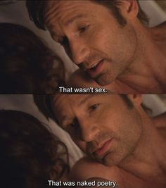 Californication, hank can be sweet when he wants to. haha