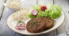Recipe for your Kenwood UK Prospero Food Mixer - Smoked Tofu & Bean Burgers, served with Green Salad. Super healthy and super tasty, vegetarian perfection. Falafel Burgers, Tofu Burger, Bean Burger, 200 Calories, Hamburger Au Tofu, Burger Recipes, Vegan Recipes, Carne, Healthy Life