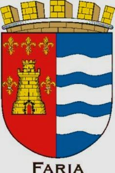 Faria Family Crest Symbols, Family Shield, Crests, Coat Of Arms, Genealogy, Hand Embroidery, Badge, Flag, Art