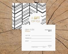 Konfetti Gold Doppel einseitig Geschenk-Gutschein von deideigraphic