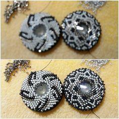 Trinket Studio - My beading jewelery peyote stitch, circular peyot, beading loom  #Earrings, #necklace, #bracelet , #TrinketStudio, #Beading, #Swarovski, #peyot , #brick, #stitch, #geometrical, Polandhandmade.pl , #Polandhandmade , #beadedbeads , #beaded, #beads, #circular, #peyott, #stitch, # rivoli