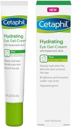 Cetaphil Hydrating Eye Gel-Cream With Hyaluronic Acid - Designed to Deeply Hydrate, Brighten & Smooth Under-Eye Area - For All Skin Types - Hypoallergenic & Suitable for Sensitive Skin - Fl. Oz by Cetaphil Listerine, Anti Aging, Cellulite Scrub, Brown Spots On Face, Dark Spots, Skin Care Routine For 20s, Skin Routine, Skincare Routine, Hair Removal Cream