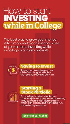 The best way to grow your money is to simply make conscientious use of your time, so investing while in college is actually possible. #investing #investingtips #investor #finance #financialtips #makemoney #earncash #abundancemindset Investing Apps, Investing In Stocks, Real Estate Investing, Stock Market Basics, Peer To Peer Lending, Stock Portfolio, Dividend Stocks, Money Trading, Investment Advice