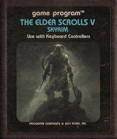 Modern Video Games Imagined as Atari Cartridges: The Elder Scrolls V: Skyrim