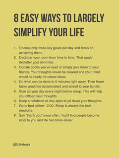 If You Want A More Fruitful Life, First You Need To Simplify It