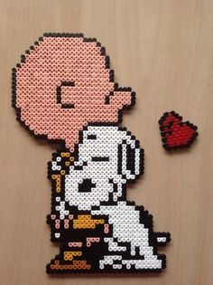 Charlie Brown and Snoopy hama beads by Majken Skjølstrup