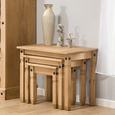 Mercers Furniture Corona Mexican Pine Nest of Tables