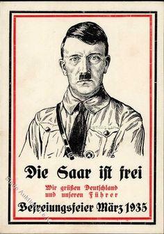 Philasearch.com - Third Reich Propaganda, Saar plebiscite,