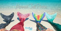 Stunning new mermaid tail photos of Fin Fun Mermaid tails at the Mermaid Swim School in the Virgin Islands! Including all the new colors!