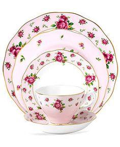 Buy Fine China Dinnerware - Macys. Royal Albert Dinnerware, Old Country Roses Pink Vintage Collection Web ID: 638274