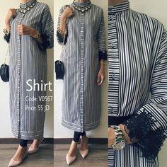قميص بقصة عملية واسعة وإضافات من الچيبير على الاكمام من تصميم غادة عثمان.. Available Sizes: S, M & L  الطلب و الاستفسار- وتساب: 00962787911119 00962795756560  #ghadashop #turban #turbans #accessories @ghadaaccessories #instahijab #hijab #fashion #hijabfashion #jeans #instafashion #casual #stylish #veildgirls #ladies #dress #skirt #shirt  #pearl #modesty #abaya #cardigan #skirt #classy #vintage  #designs #newcollection