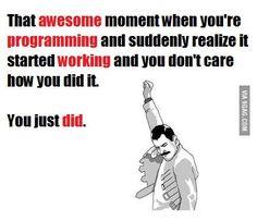 We all have felt like that before! Power up! Computer Science Humor, Computer Jokes, Science Jokes, Computer Technology, Programming Humor, Computer Programming, Java, Script, Engineering Memes