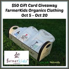$50 FarmerKids Organics Clothing Gift Card Giveaway 10/20 - Newly Crunchy Mama Of 3